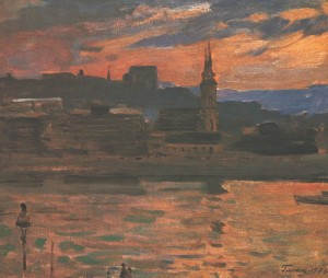 Budapest. Evening, 1974, oil on canvas, 59,5х69,5