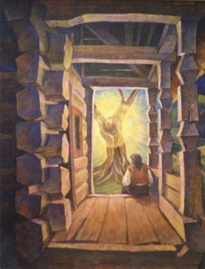 У сяйві дерева з'явився ти, 1995, п.т. 131х102