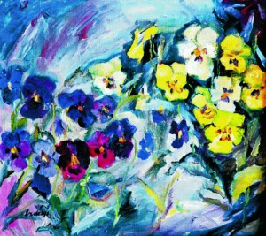 Pansy flowers, 1940