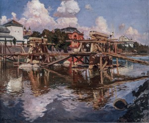 The Construction Of The Bridge, 1948, oil on canvas, 95x115