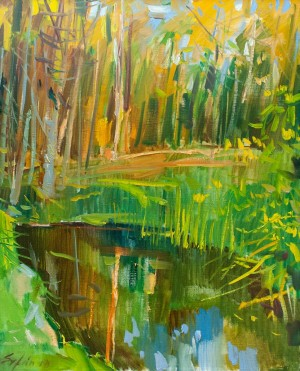 F. Erfan 'Lake In The Forest', 2018