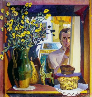 I. Manailo Self-portrait', 1985 oil on canvas, 80x80