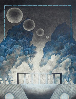 N. Ponomarenko 'Fog On The Road', 1977, mixed technique on paper, 36x34.jpg
