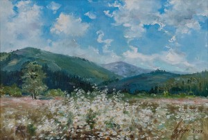 H. Ruff The Spring Carpathians', 2009, oil on canvas, 31x45