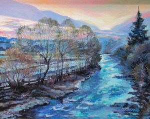 A. Sakalosh The Studena River', 2015, oil on canvas, 58x75
