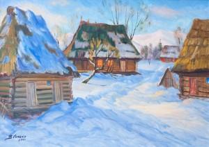 V. Senko An Old Verkhovyna', 2001, oil on canvas, 65x90