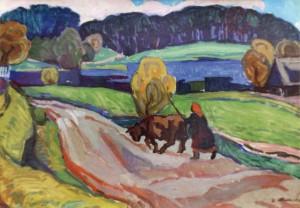 У литовському селі, 1963, к.о. 60х83