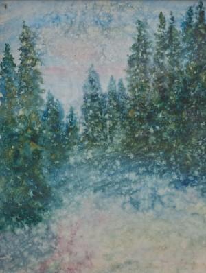 I. Bondarenko 'Winter Fir Trees'.