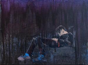 J. Krimmel 'Yamanote IX', 2013, wood, oil, 30x40