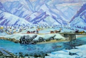 Верховинська зима, 1970, п.о. 67х91