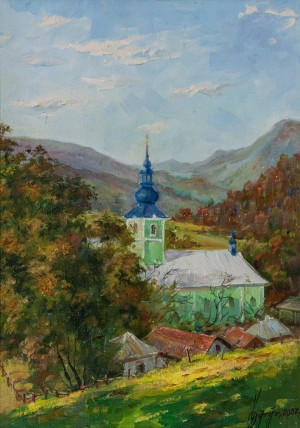 H. Ruff Rural Church' (Svaliava), 2007, oil on canvas, 50x35