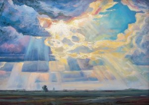 A. Sakalosh Sun Rays', 2012, oil on canvas, 65x90