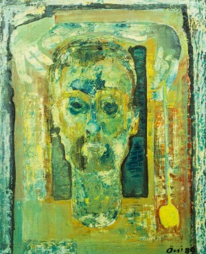 Self-portrait With Empty Eyes, 1989, oil on canvas, 67,5х54,5