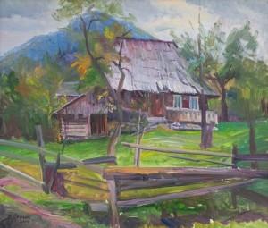Сенько В. 'Старенький дворик', 2014, п.о., 50х70