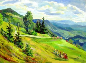 Picnic', 2009, oil on canvas, 90x65