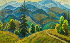 Дорога в горах, п.о., 66х105