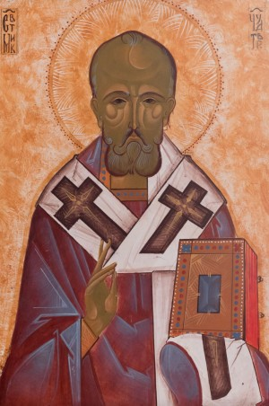 Author anonymous St. Nicholas', board, tempera, 35x55