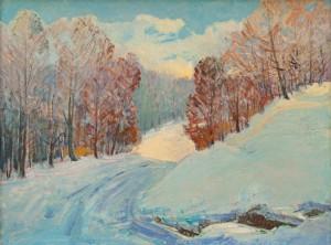 I. Bondarenko 'Winter In Krasiia Mountain'.