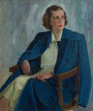 Ерделі А. 'Портрет мистецтвознавця Надії Знаменської', 1953