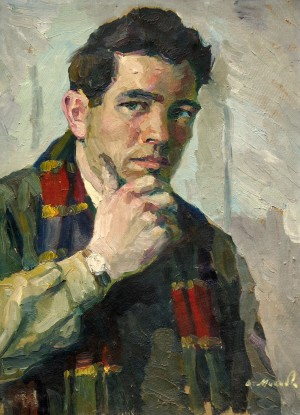 V. Mykyta Self-portrait', 1955, oil on cardboard, 44x32