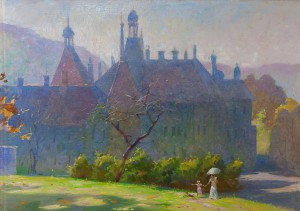 V. Semernov The Schonborn Castle', 2009, oil on canvas, 60x80