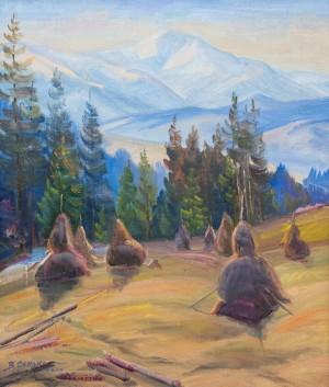 V. Senko Old Haystacks', 2008, oil on canvas, 60x50