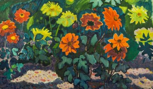 Жоржини цвітуть, п.о., 58,5х99