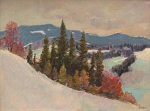 I. Bondarenko 'Winter In Podobovets Village'.