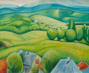 I. Chepa 'Landscape With Houses'