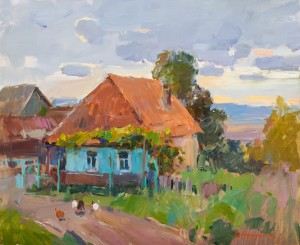 O. Kryushyn In The Village', 2018, 60x80