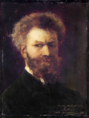 M. Munkácsy Self-portrait', 1881 oil on wood