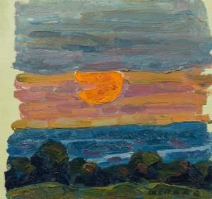 Захід сонця, к.о., 30х29