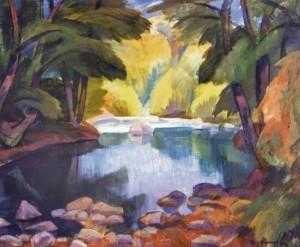 Тиша над озером, 1993, п.о.т. 58х70