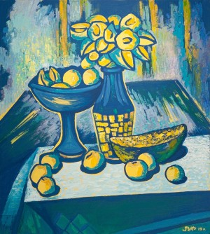 V. Filesh 'Blue - Yellow Still Life', 2019.