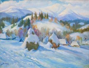 Сенько В. 'У полоні снігу', 2003, п.о., 68х90