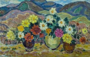Квіти на фоні Карпат, п.о., 40х62