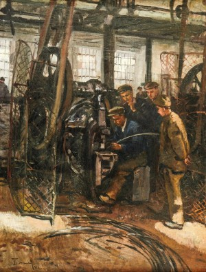 In The Workshop, 1952, oil on canvas, 80x62