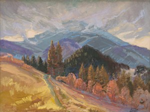 I. Bondarenko 'Ostra Mountain In Spring'.