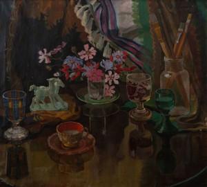 A. Erdeli Still Life', 1952, oil on canvas, 77х85,5