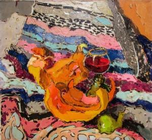 O. Shandor 'A Glass Of Wine', 2015