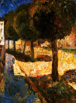 'Street In Berehovo', 1962, oil on canvas, 80x60