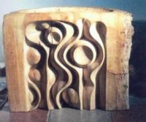 Decorative Plastic, wood, carving, 1982, 45х50х30