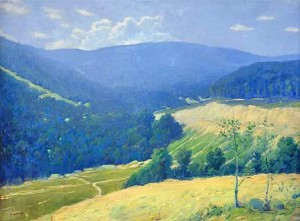 Valley In The Mountains, 1943, oil on canvas, 60х80