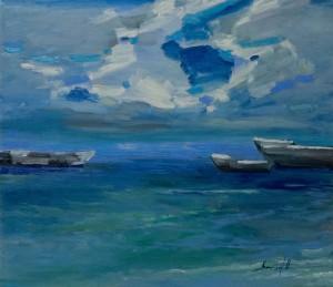 'Boats', 2017, 80x70