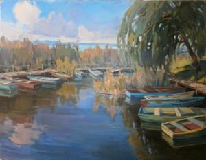 'Boats On Lake Velence'