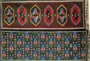 'Доріжка і килим', 1965, вовна, ручне ткацтво