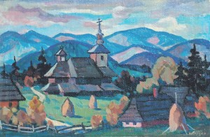 Village, 1993, oil on canvas, 24x35