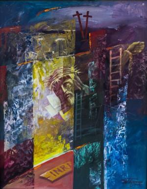 Триптих Св. Трійця, центр. част. Голгофа, 2009, к. т.