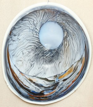 A. Bakotei Gravitation', 2013, coloured glass, hot-glass glassblowing, H=69