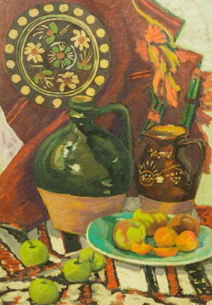 Still Life With Ceramics, 1988, oil on canvas, 70x50